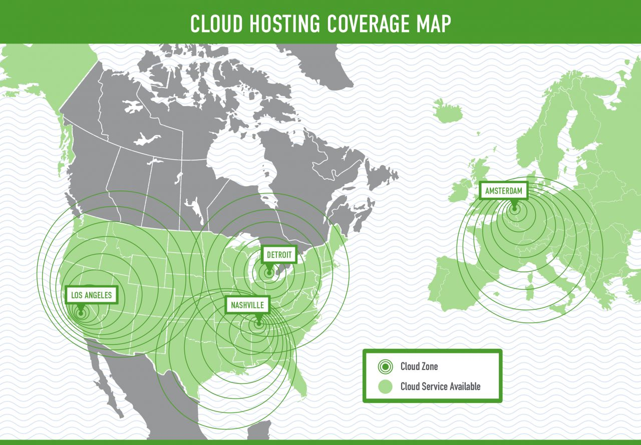 ManagedWay Cloud hosting coverage map